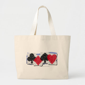 Card Suits Banner Large Tote Bag