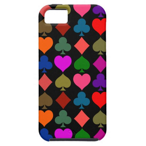 Card Suits Bright iPhone 5 Cover