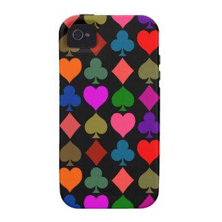 Card Suits Bright Case-Mate iPhone 4 Case