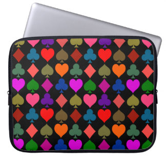 Card Suits Bright Computer Sleeve