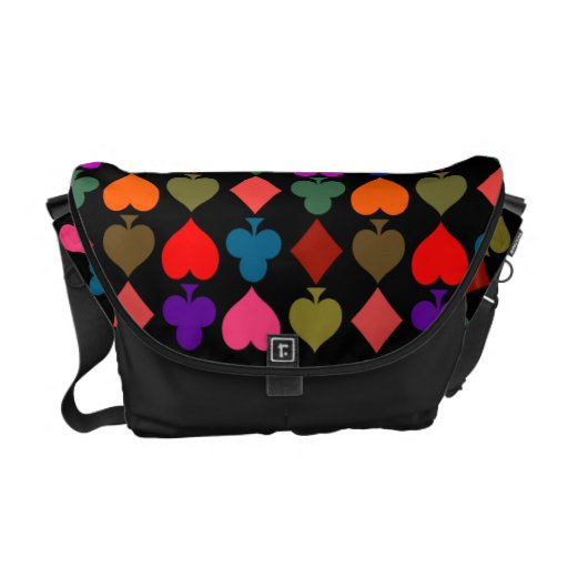 Card Suits Bright Messenger Bags