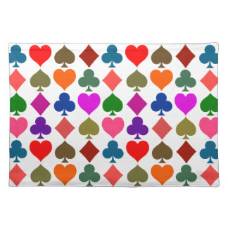 Card Suits Bright Placemat