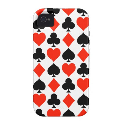 Card Suits Classic iPhone 4 Case