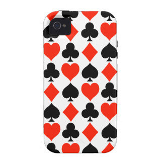 Card Suits Classic Vibe iPhone 4 Cases
