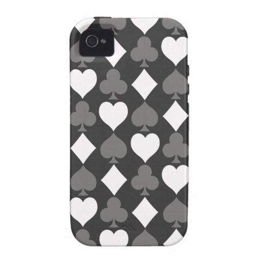 Card Suits Monochromatic Vibe iPhone 4 Covers
