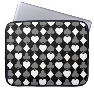 Card Suits Monochromatic Laptop Sleeve