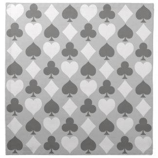 Card Suits Monochromatic Cloth Napkin