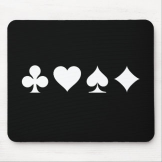 Card Suits Pictogram Mousepad