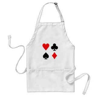 Card Suits Red and Black Standard Apron