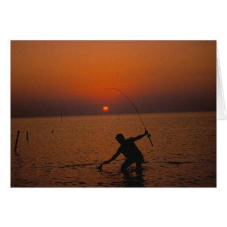 Card / Sunset Fishing