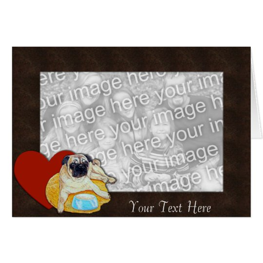 Card Template - I Love Pugs