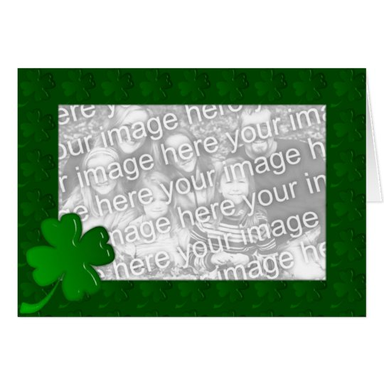 Card Template - Luck of the Irish Shamrock