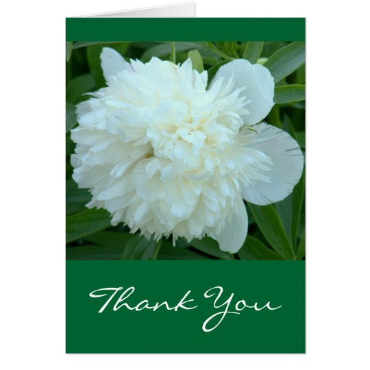 "Card, ""Thank You"" White Peony Card"
