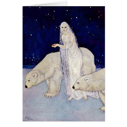 Card: The Snow Maiden by Edmund Dulac