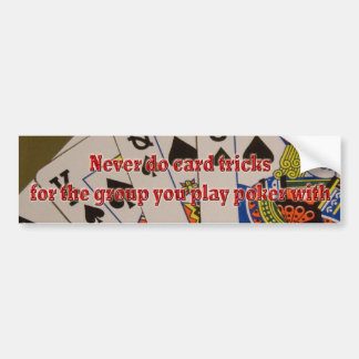 card tricks bumper sticker