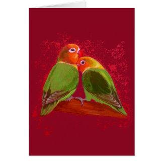 Card - Valentine's Day Lovebirds