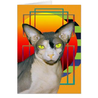Card Vamp Sphynx Cat Orange