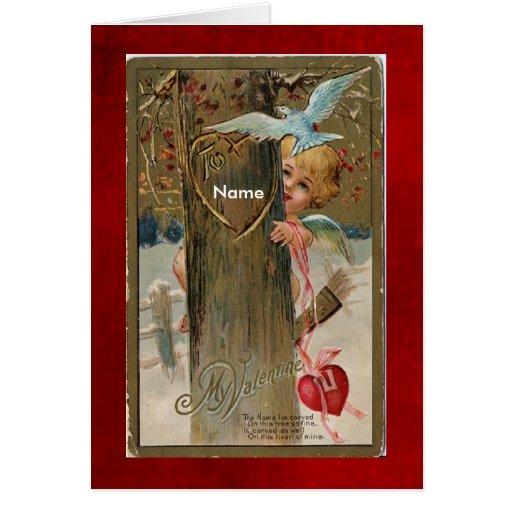 Card-Vintage Valentine-Put name on front