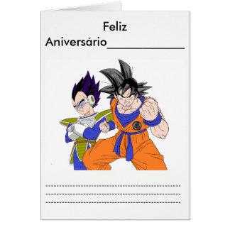 Card, white Envelope Goku and vegetate Card