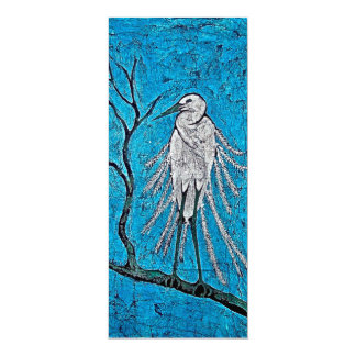 Card with Batik of White Egret