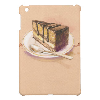 Card with painted watercolor cake iPad mini covers