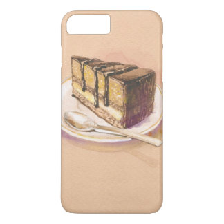 Card with painted watercolor cake iPhone 8 plus/7 plus case