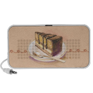 Card with painted watercolor cake mp3 speakers