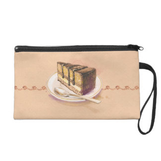 Card with painted watercolor cake wristlet