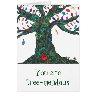 Card with tree for congratulations/ encouragement