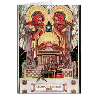 Card with Xmas illustration by J.C. Leyendecker
