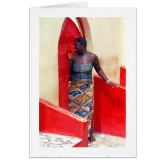 "Card, ""Woman at Red Door"" Card"