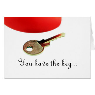 "Card - ""You Have The Key To My Heart"""