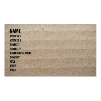 Cardboard and Packing Peanuts Business Cards