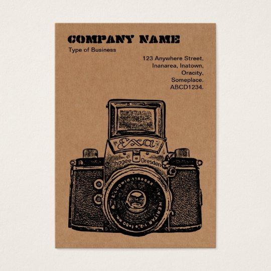 Cardboard Camera Business Card