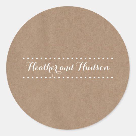 Cardboard Inspired Wedding Sticker