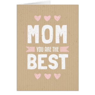 Cardboard Mother's Day Text Design Greeting Card