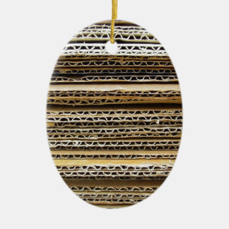 Cardboard Stripes Christmas Ornament
