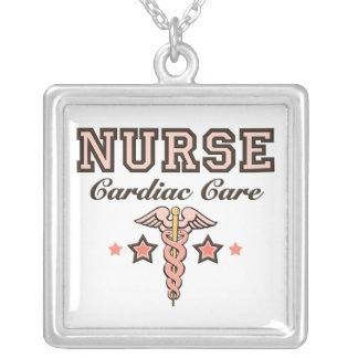 Cardiac Care Nurse Caduceus Necklace