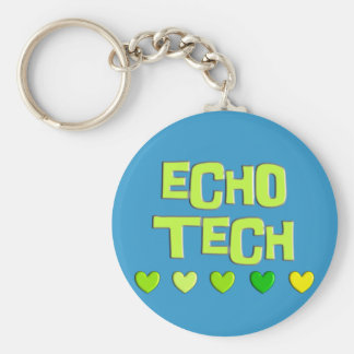 Cardiac Echo Tech Gifts Basic Round Button Key Ring
