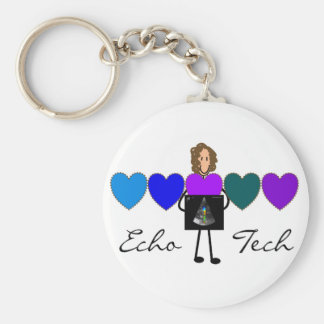 Cardiac Echo Technician Unique Gifts Basic Round Button Key Ring