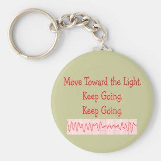 Cardiac/ER Nurse  Funny V-Fib Rhythm Strip Basic Round Button Key Ring