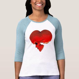 Cardiac Ladies 3/4 Sleeve Raglan (Fitted) T Shirt