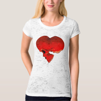 Cardiac Ladies Burnout T-Shirt