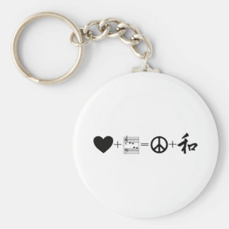 CARDIAC Love+Music=Peace+Harmony Basic Round Button Key Ring