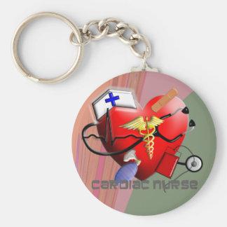 Cardiac Nurse Art Gifts Keychains