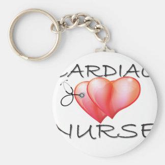 Cardiac Nurse Gifts Basic Round Button Key Ring