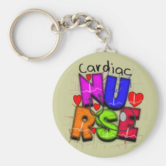 Cardiac Nurse Gifts--Unique Cardiac Design Key Ring