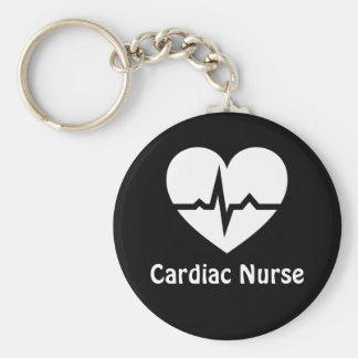 Cardiac nurse heart with ECG wave keychain
