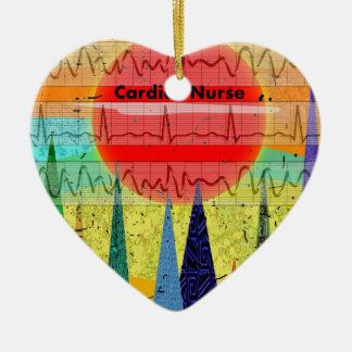 Cardiac Nurse Magical Forest Christmas Ornament