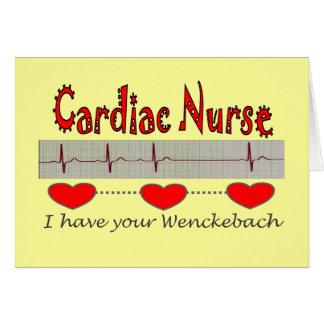 Cardiac Nurse T-shirts and Gifts Greeting Card